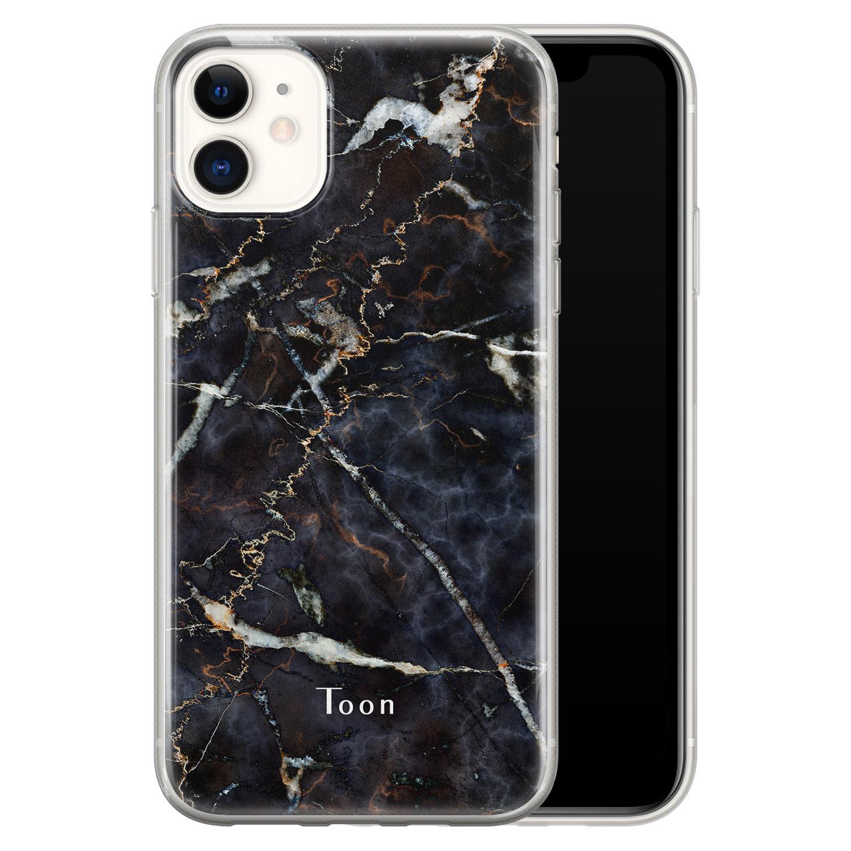 iPhone 11 siliconen hoesje ontwerpen - Marmer mix