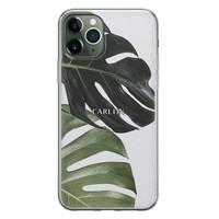 Leuke Telefoonhoesjes iPhone 11 Pro siliconen hoesje ontwerpen - Monstera
