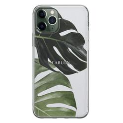 iPhone 11 Pro siliconen hoesje ontwerpen - Monstera