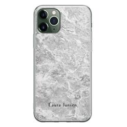 iPhone 11 Pro siliconen hoesje ontwerpen - Marmer grijs