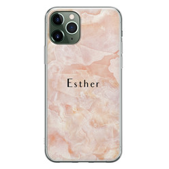Leuke Telefoonhoesjes iPhone 11 Pro siliconen hoesje ontwerpen - Marble sunkissed