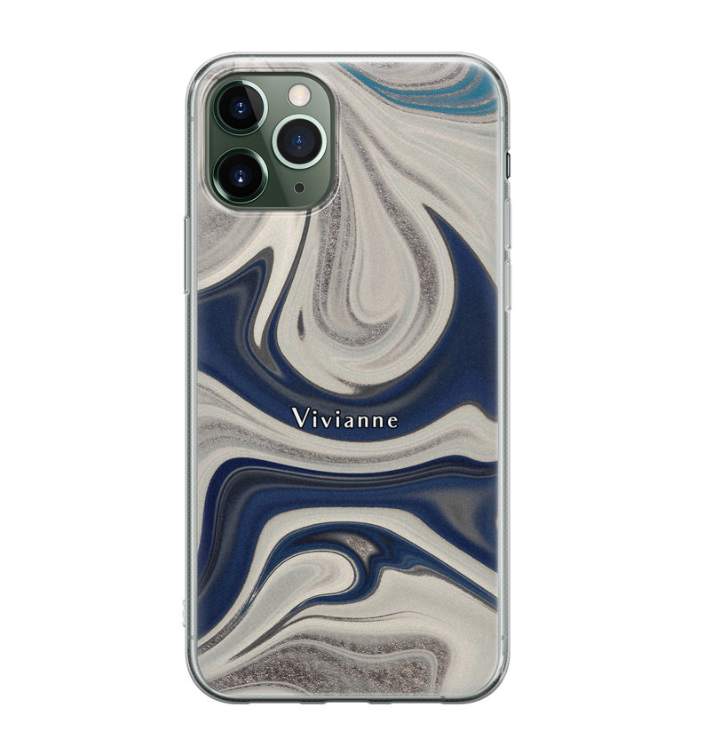 iPhone 11 Pro siliconen hoesje ontwerpen - Marmer sand