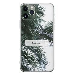 Leuke Telefoonhoesjes iPhone 11 Pro siliconen hoesje ontwerpen - Palmbladeren