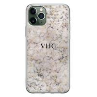 iPhone 11 Pro siliconen hoesje ontwerpen - Marmer veins