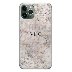Leuke Telefoonhoesjes iPhone 11 Pro siliconen hoesje ontwerpen - Marmer veins