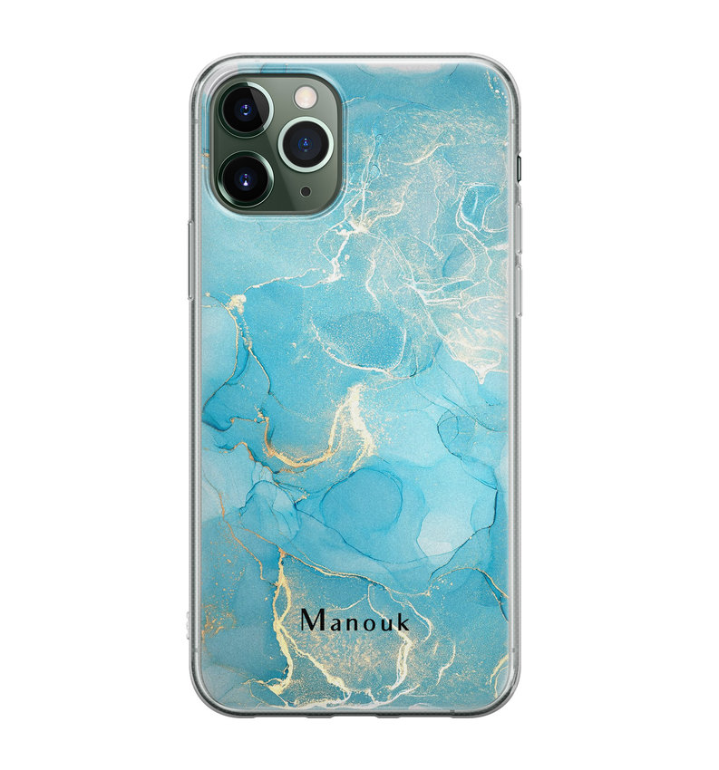 iPhone 11 Pro siliconen hoesje ontwerpen - Marmer liquid