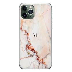 iPhone 11 Pro siliconen hoesje ontwerpen - Marmer luxe