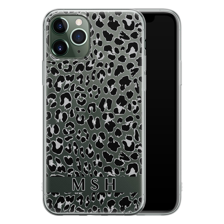 Leuke Telefoonhoesjes iPhone 11 Pro siliconen hoesje ontwerpen - Luipaard grijs
