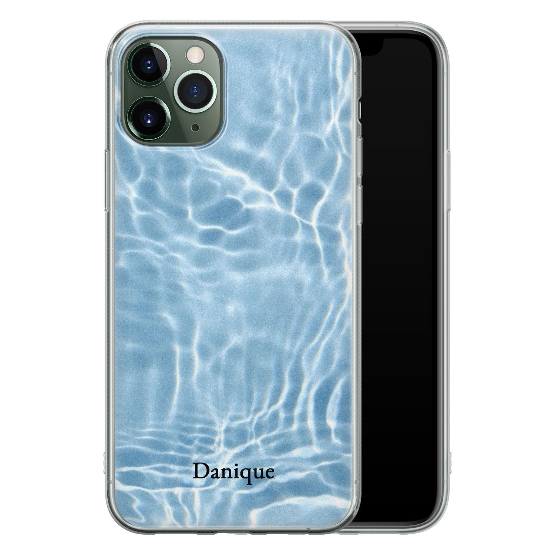 iPhone 11 Pro siliconen hoesje ontwerpen - Water blue