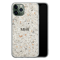 iPhone 11 Pro siliconen hoesje ontwerpen - Terrazzo bruin