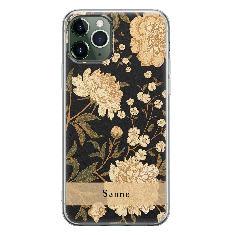 Leuke Telefoonhoesjes iPhone 11 Pro siliconen hoesje ontwerpen - Golden flowers