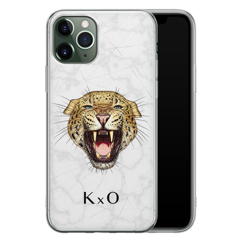 Leuke Telefoonhoesjes iPhone 11 Pro siliconen hoesje ontwerpen - Luipaard hoofd