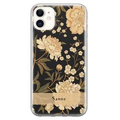 Leuke Telefoonhoesjes iPhone 11 siliconen hoesje ontwerpen - Golden flowers
