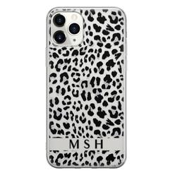 Leuke Telefoonhoesjes iPhone 11 Pro Max siliconen hoesje ontwerpen - Luipaard grijs
