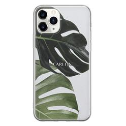 iPhone 11 Pro Max siliconen hoesje ontwerpen - Monstera