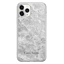 Leuke Telefoonhoesjes iPhone 11 Pro Max siliconen hoesje ontwerpen - Marmer grijs