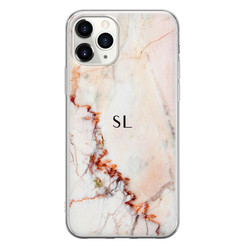 Leuke Telefoonhoesjes iPhone 11 Pro Max siliconen hoesje ontwerpen - Marmer luxe