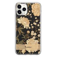 iPhone 11 Pro Max siliconen hoesje ontwerpen - Golden flowers