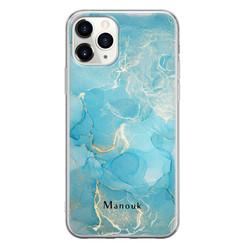 Leuke Telefoonhoesjes iPhone 11 Pro Max siliconen hoesje ontwerpen - Marmer liquid