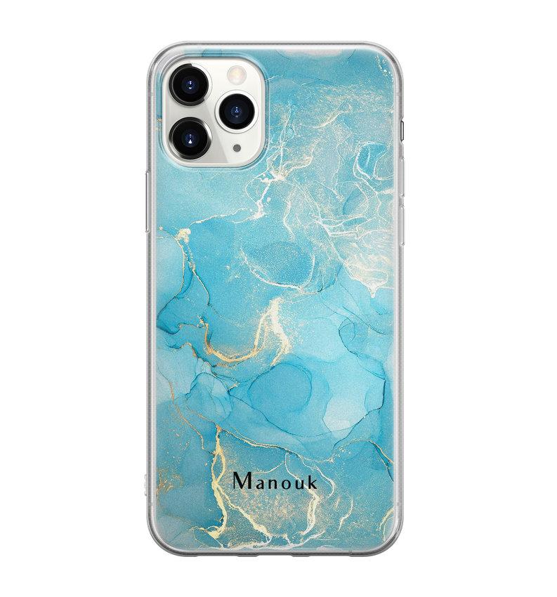 iPhone 11 Pro Max siliconen hoesje ontwerpen - Marmer liquid