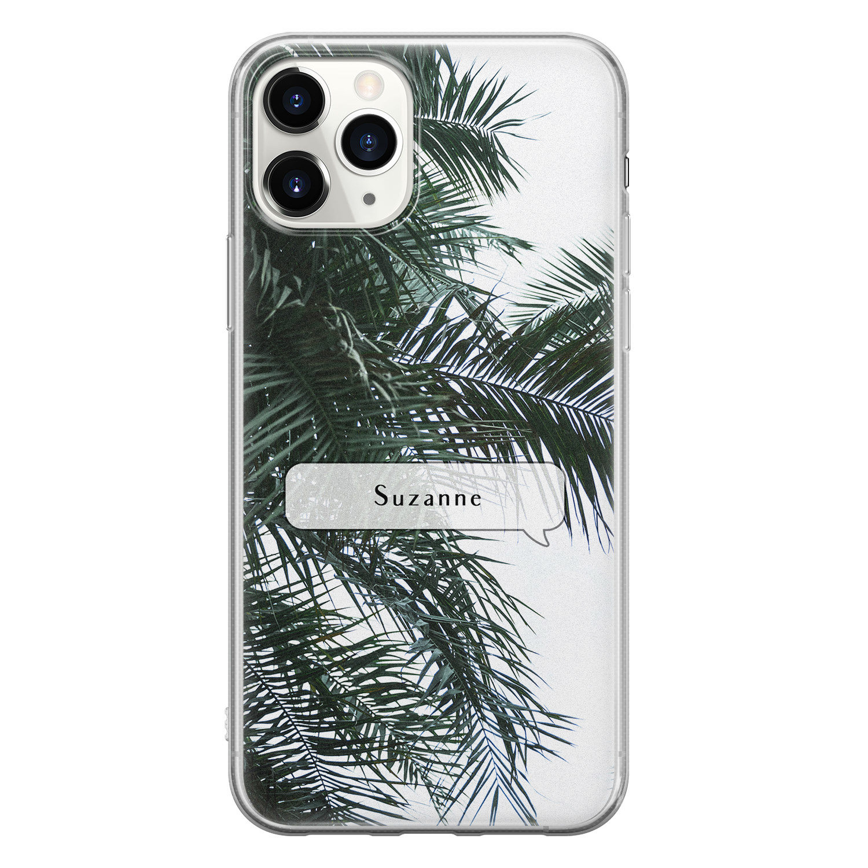 Leuke Telefoonhoesjes iPhone 11 Pro Max siliconen hoesje ontwerpen - Palmbladeren