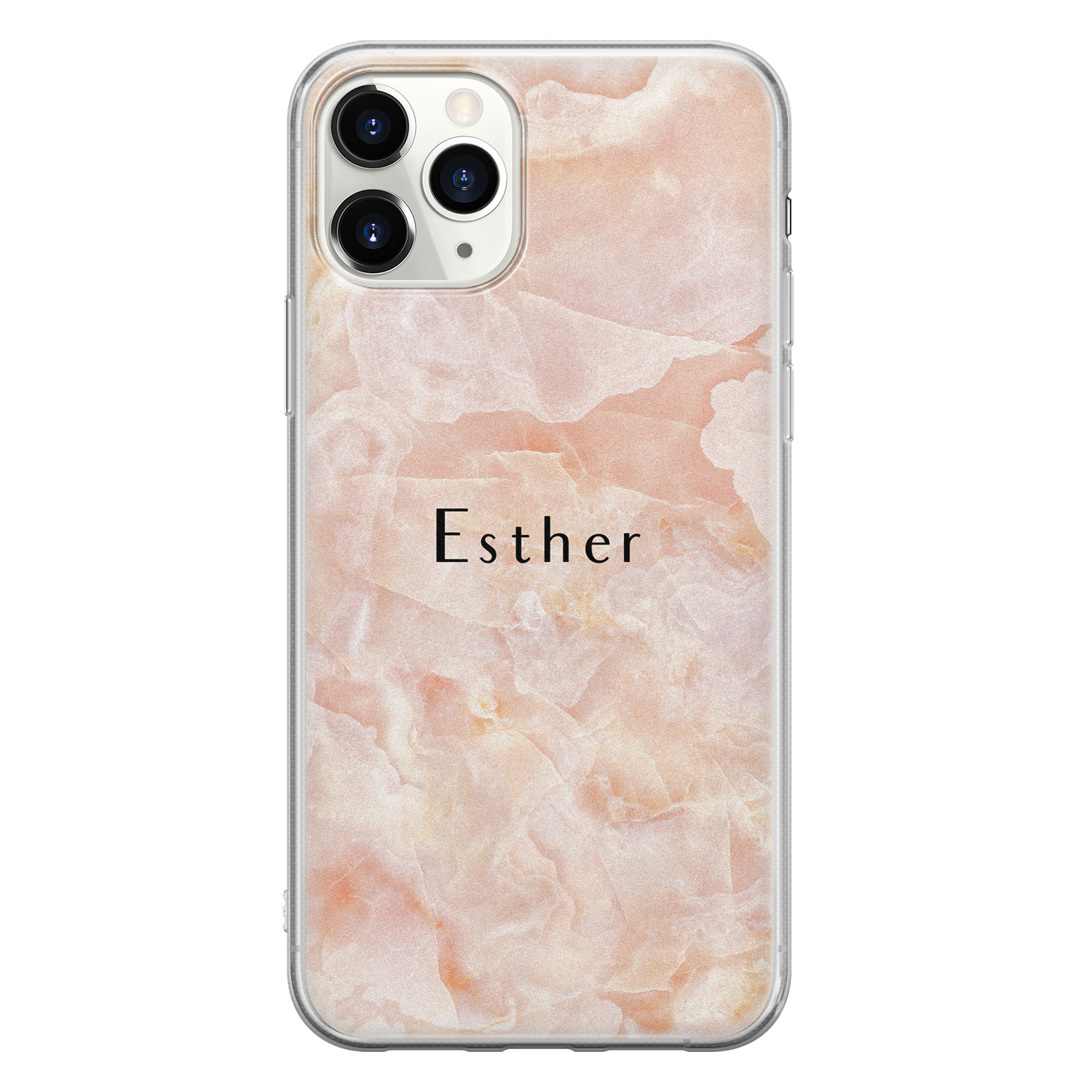 iPhone 11 Pro Max siliconen hoesje ontwerpen - Marble sunkissed