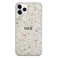 Leuke Telefoonhoesjes iPhone 11 Pro Max siliconen hoesje ontwerpen - Terrazzo bruin