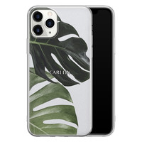 Leuke Telefoonhoesjes iPhone 11 Pro Max siliconen hoesje ontwerpen - Monstera