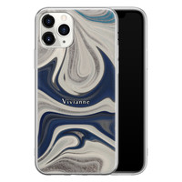 Leuke Telefoonhoesjes iPhone 11 Pro Max siliconen hoesje ontwerpen - Marmer sand