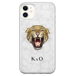 Leuke Telefoonhoesjes iPhone 11 siliconen hoesje ontwerpen - Luipaard hoofd