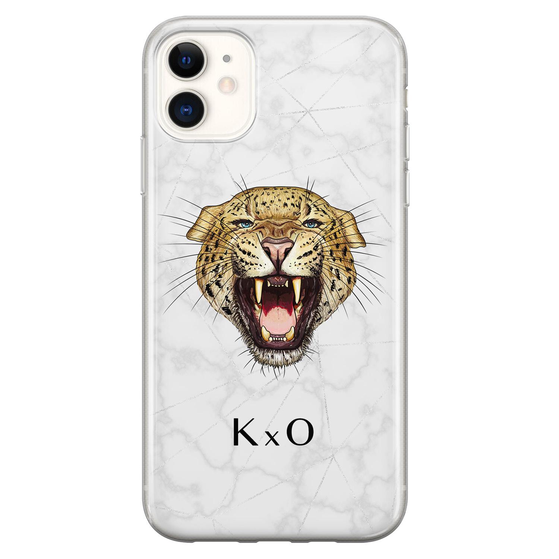 iPhone 11 siliconen hoesje ontwerpen - Luipaard hoofd
