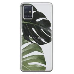 Leuke Telefoonhoesjes Samsung Galaxy A51 siliconen hoesje ontwerpen - Monstera