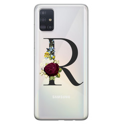 Leuke Telefoonhoesjes Samsung Galaxy A51 siliconen hoesje ontwerpen - Monogram