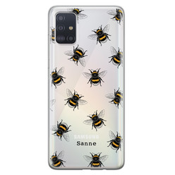 Leuke Telefoonhoesjes Samsung Galaxy A51 siliconen hoesje ontwerpen - Happy bees
