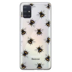 Samsung Galaxy A51 siliconen hoesje ontwerpen - Happy bees