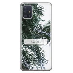 Leuke Telefoonhoesjes Samsung Galaxy A51 siliconen hoesje ontwerpen - Palmbladeren