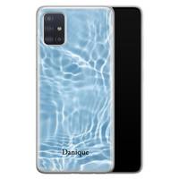 Samsung Galaxy A51 siliconen hoesje ontwerpen - Water blue