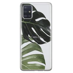 Leuke Telefoonhoesjes Samsung Galaxy A71 siliconen hoesje ontwerpen - Monstera