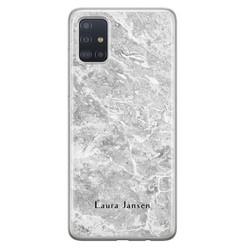 Samsung Galaxy A71 siliconen hoesje ontwerpen - Marmer grijs