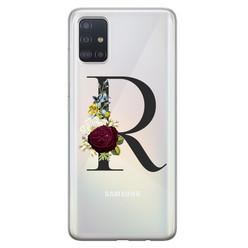 Leuke Telefoonhoesjes Samsung Galaxy A71 siliconen hoesje ontwerpen - Monogram