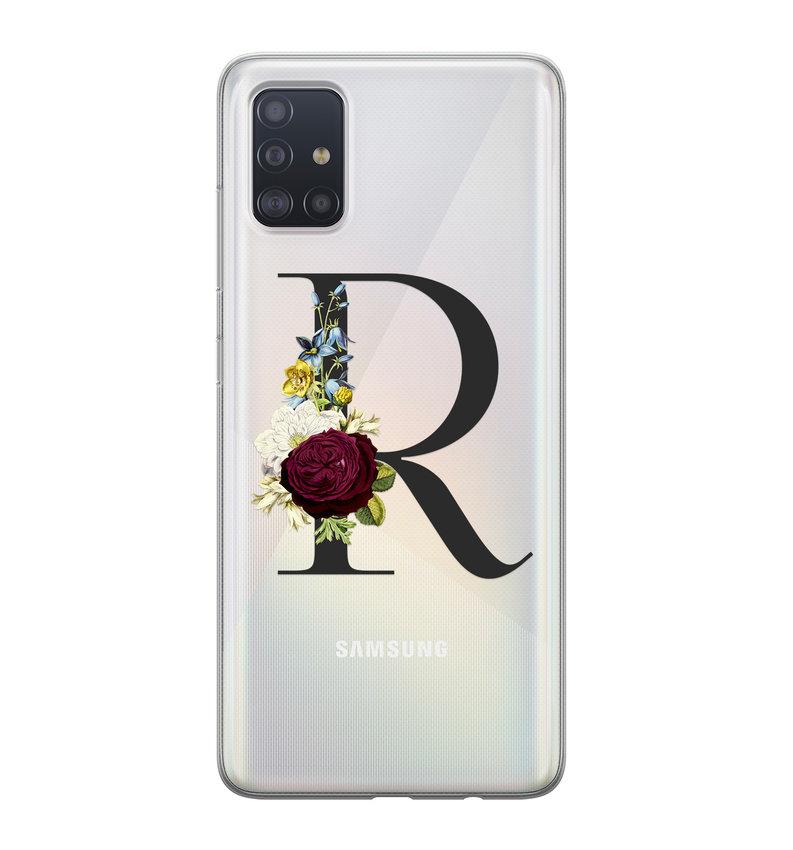 Samsung Galaxy A71 siliconen hoesje ontwerpen - Monogram