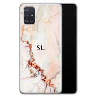Samsung Galaxy A71 siliconen hoesje ontwerpen - Marmer luxe