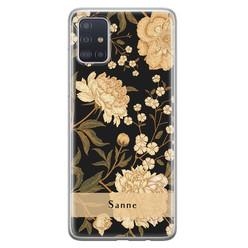 Samsung Galaxy A71 siliconen hoesje ontwerpen - Golden flowers