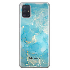 Leuke Telefoonhoesjes Samsung Galaxy A71 siliconen hoesje ontwerpen - Marmer liquid