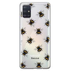 Leuke Telefoonhoesjes Samsung Galaxy A71 siliconen hoesje ontwerpen - Happy bees