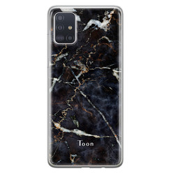 Samsung Galaxy A71 siliconen hoesje ontwerpen - Marmer mix
