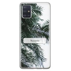 Leuke Telefoonhoesjes Samsung Galaxy A71 siliconen hoesje ontwerpen - Palmbladeren