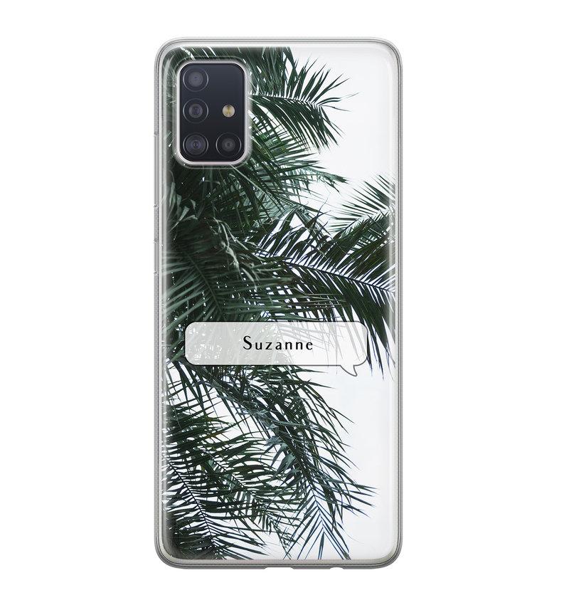 Samsung Galaxy A71 siliconen hoesje ontwerpen - Palmbladeren