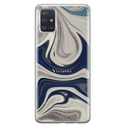Leuke Telefoonhoesjes Samsung Galaxy A71 siliconen hoesje ontwerpen - Marmer sand