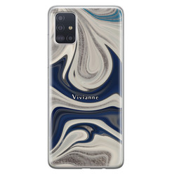 Samsung Galaxy A71 siliconen hoesje ontwerpen - Marmer sand